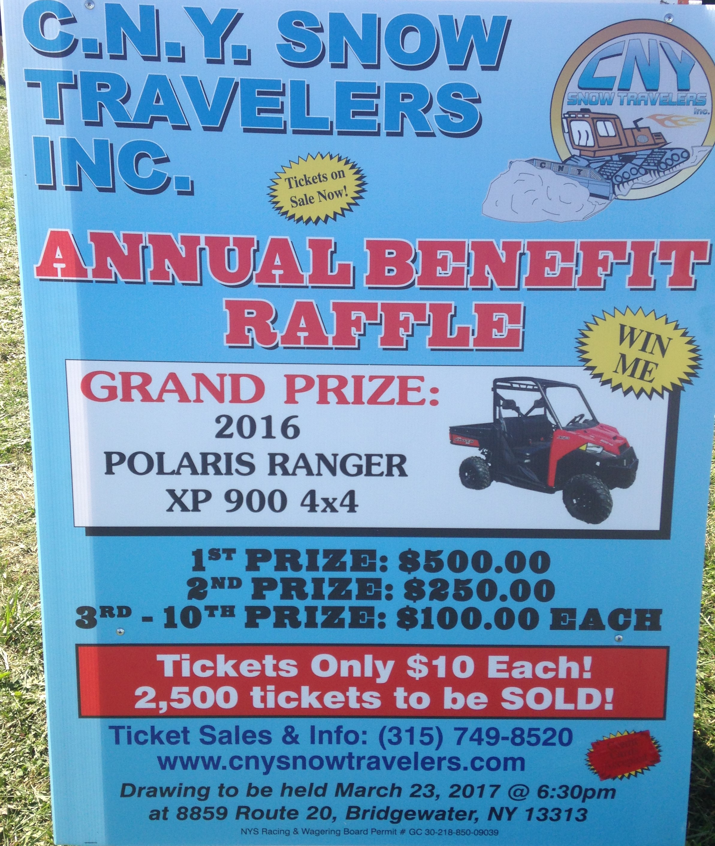 polaris ranger xp cash raffle cny snow travelers inc polarisraffle1 polarisraffle2